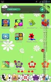 Flower Pattern es el tema de pantalla