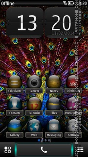 Peacock HD Screen theme screenshot