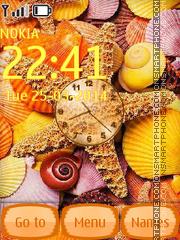 Seashells Clock theme screenshot