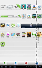 Simple White 01 es el tema de pantalla