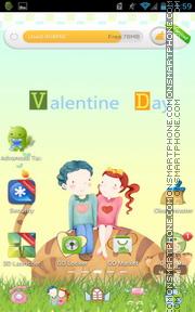 Valentine Day 07 es el tema de pantalla