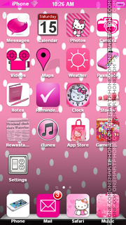 Hello Kitty 50 theme screenshot