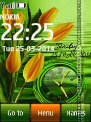 Tulips Dual Clock es el tema de pantalla