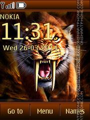 Wild Tiger 02 tema screenshot