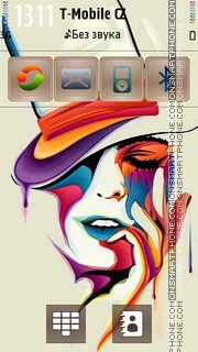 Beauty Rainbow Face es el tema de pantalla