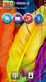 Feathers HD theme screenshot