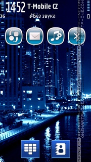 Blue Singapore City es el tema de pantalla