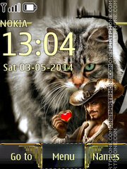 Cat and Musketeer theme screenshot