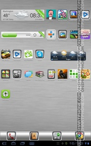 White Metal 01 tema screenshot