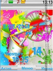 Colors Clock es el tema de pantalla