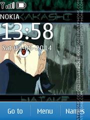 Anime Kakashi Hatake theme screenshot
