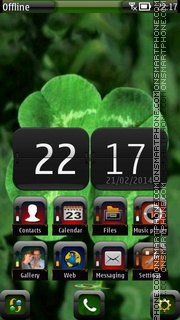 Clover 01 theme screenshot