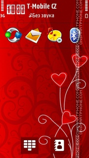 Valentine Hearts 07 theme screenshot