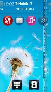 Natural Dandelion es el tema de pantalla