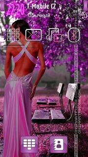 Spring Purple Girl es el tema de pantalla