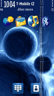 Blue Planets in Space es el tema de pantalla