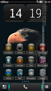 Dark Bird of Prey theme screenshot