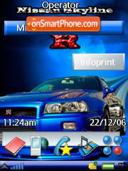 Nissan Skyline Gtr theme screenshot