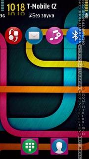 Symbian Color Lines es el tema de pantalla