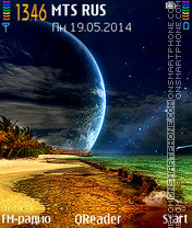 Outer-Planet tema screenshot