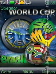 Fifa world cup 2014 es el tema de pantalla