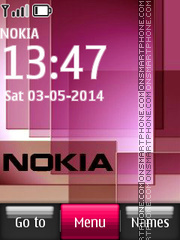 Nokia Pink Abstract theme screenshot