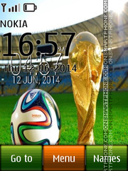 Fifa Brazil Digital Clock theme screenshot