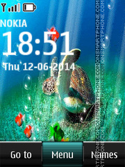 Beautiful Fish and Turtle theme screenshot