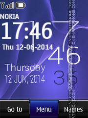 Sony Xperia Z live clock theme screenshot