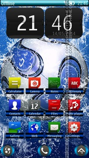 Football HD 01 theme screenshot