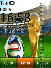 Fifa Cup 2014 with Ball icons es el tema de pantalla