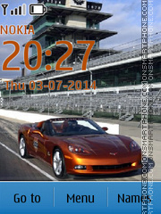 Chevrolet Corvette Indy 500 theme screenshot