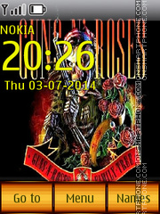 Guns N' Roses 01 theme screenshot