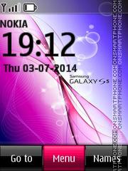 Samsung Galaxy S5 es el tema de pantalla