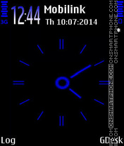 Blue clock tema screenshot
