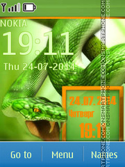 Snake theme screenshot