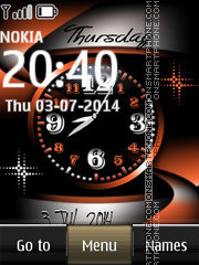 Nokia Abstract Dual Clock es el tema de pantalla