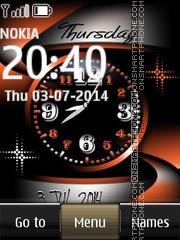 Nokia Abstract Dual Clock es el tema de pantalla