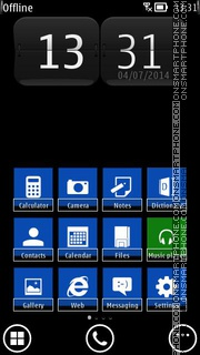 WP8 Blue tema screenshot