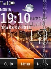 Night bridge live clock es el tema de pantalla