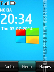 Windows Clock 03 theme screenshot
