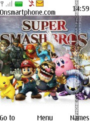 Super Smash Bros tema screenshot