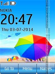 Romantic Beach Belgium theme screenshot