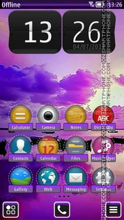 Purple Sea HD tema screenshot