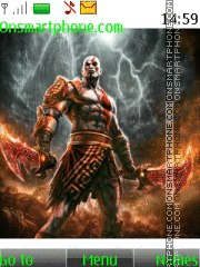 God of War Kratos theme screenshot