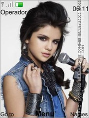 Selena Gomez theme screenshot