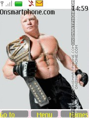 WWE Brock Lesnar tema screenshot