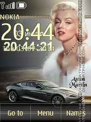 Marilyn Monroe and Aston Martin theme screenshot