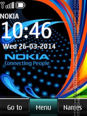 Nokia Logo Digital Clock Theme-Screenshot