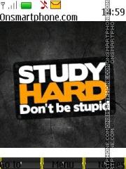 Study Hard es el tema de pantalla